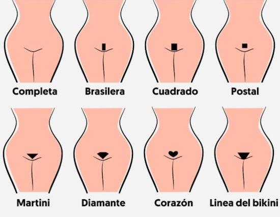 tipos de depilacion zona intima en el pubis
