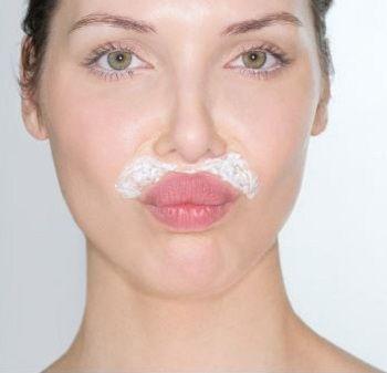 como depilar la cara con crema