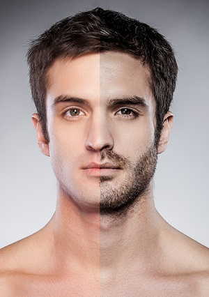 depilar barba hombre
